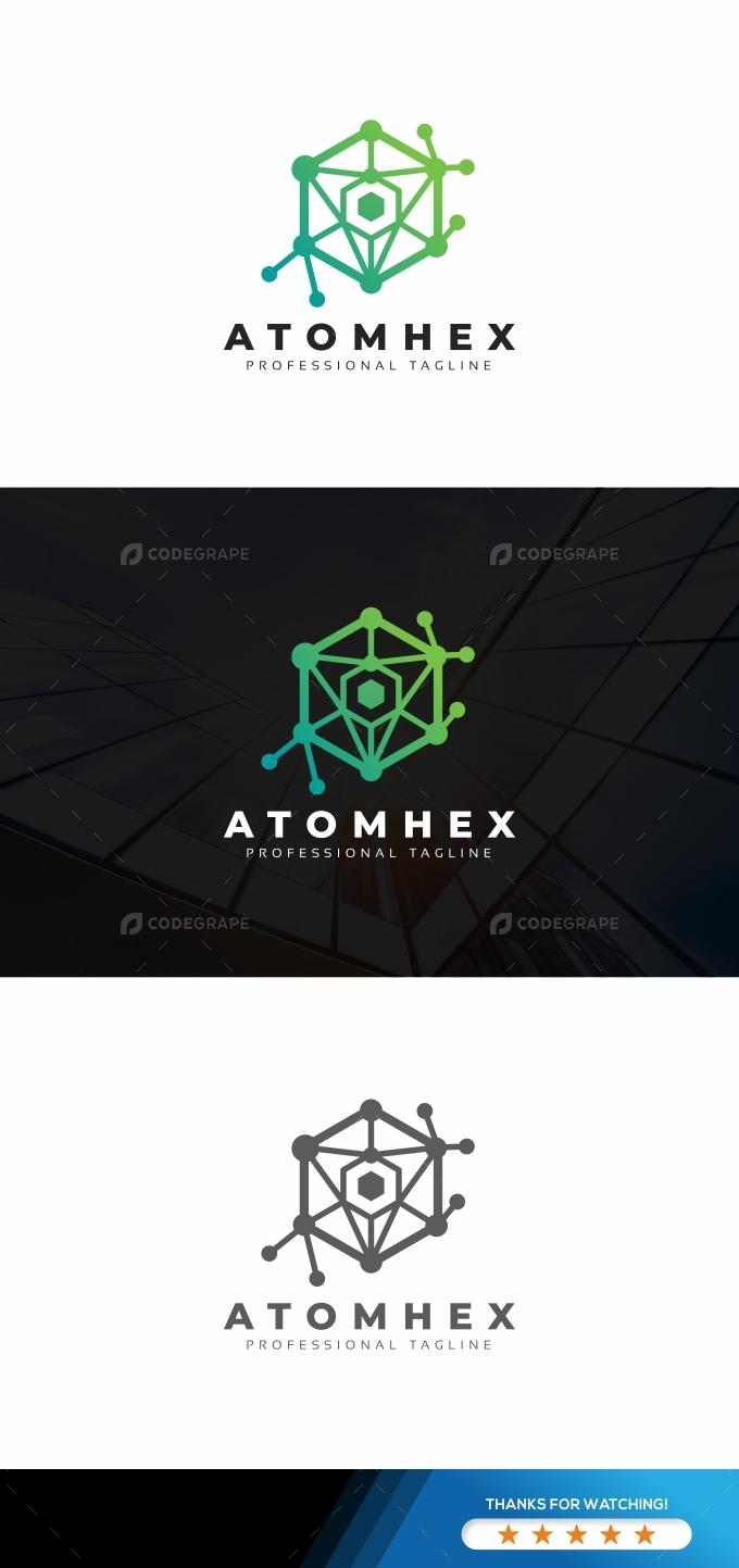 Atom Hexagon Logo