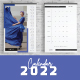 Wall Calendar with Monthly Planner 2022 template
