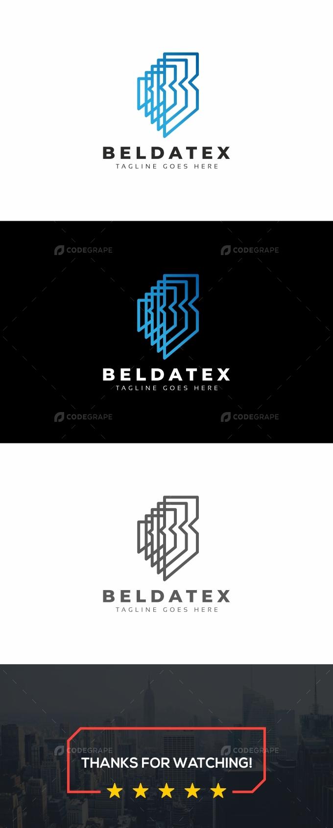 B Letter Line Logo