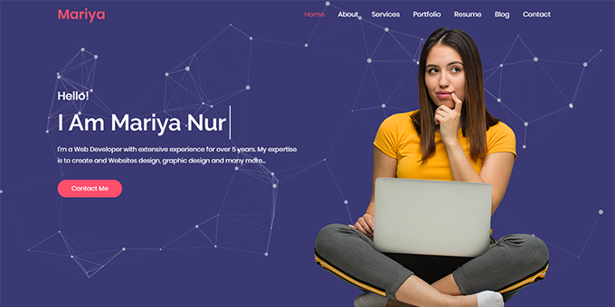 Mariya Personal Portfolio Bootstrap Template