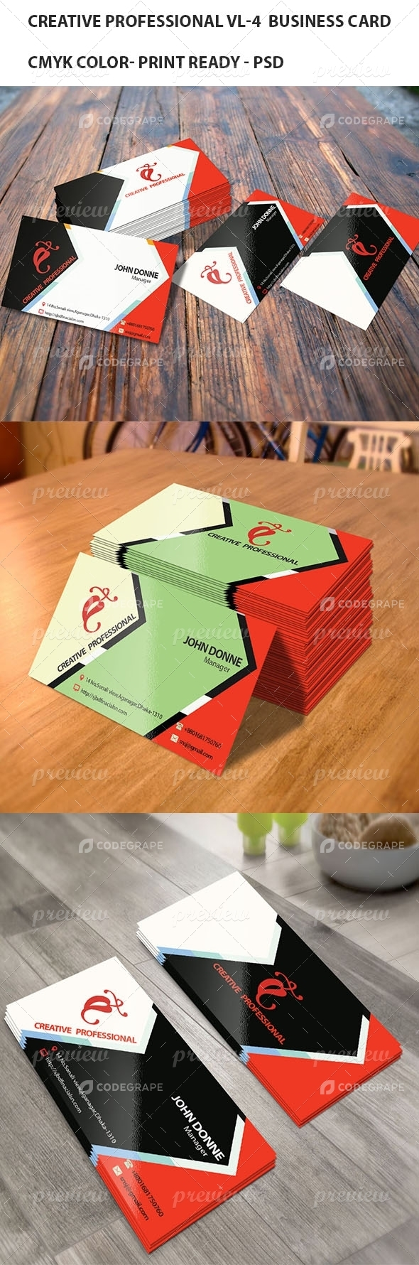 Creative Professional VL- 4 Business card