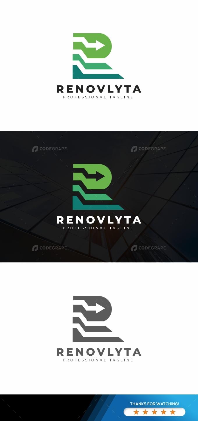 R Letter Arrows Logo