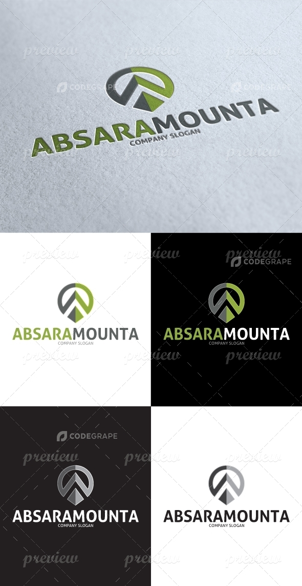 AbsaraMounta Abstract A Letter Logo