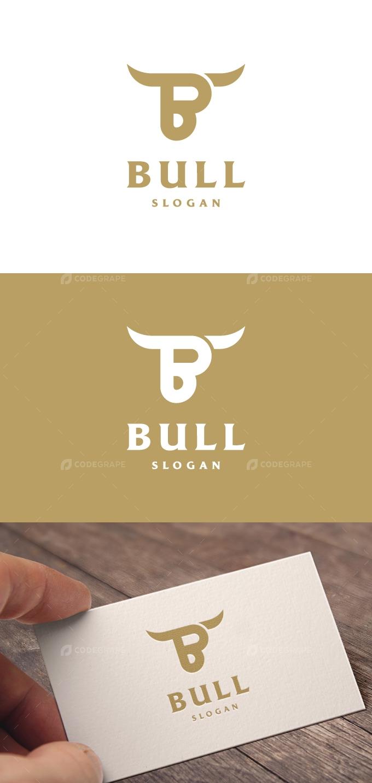 Letter B Bull Logo