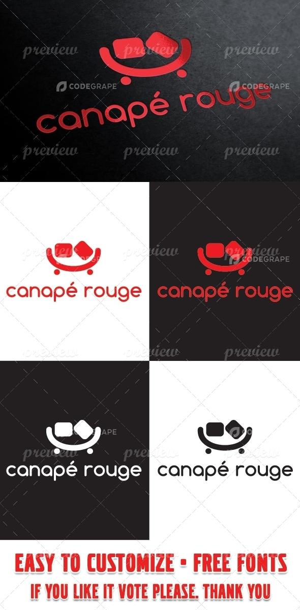 Canapé Rouge Logo Template