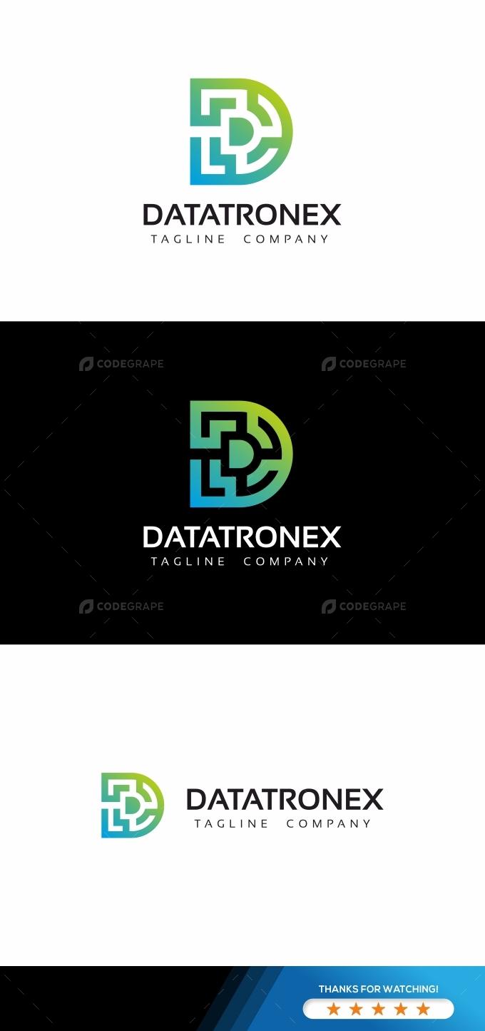 Datatronex D Letter Logo