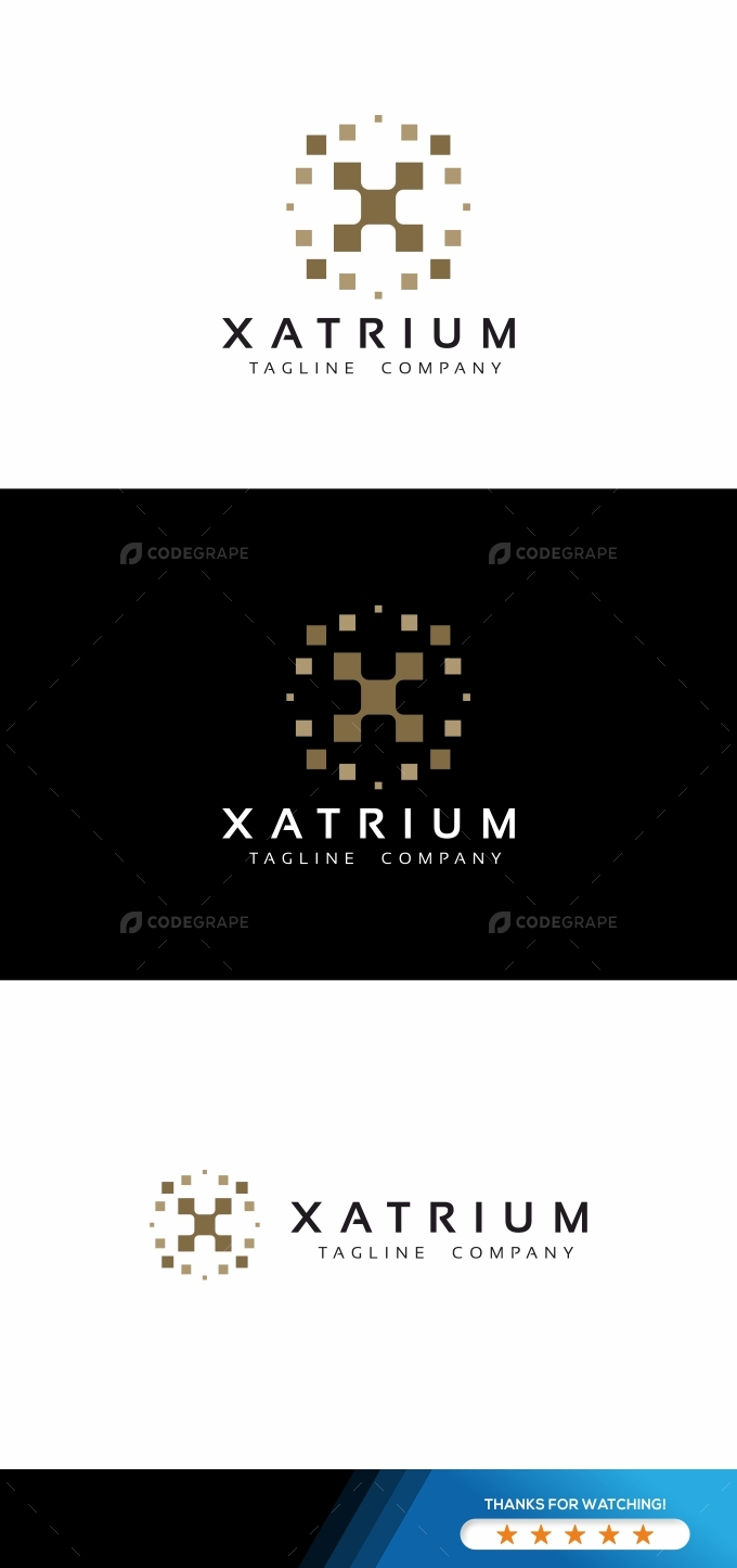 X Letter Pixel Logo