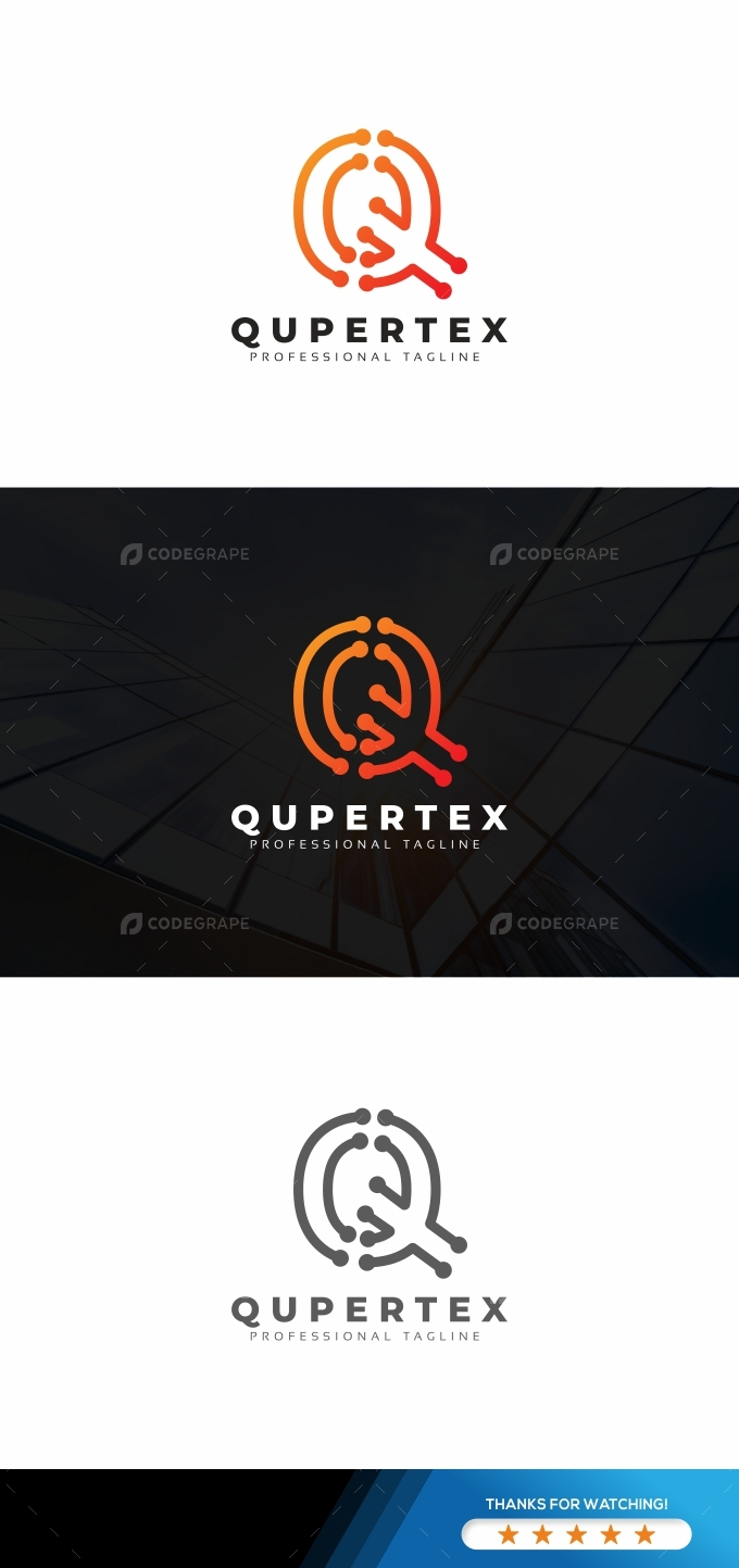Q Letter Tech Logo