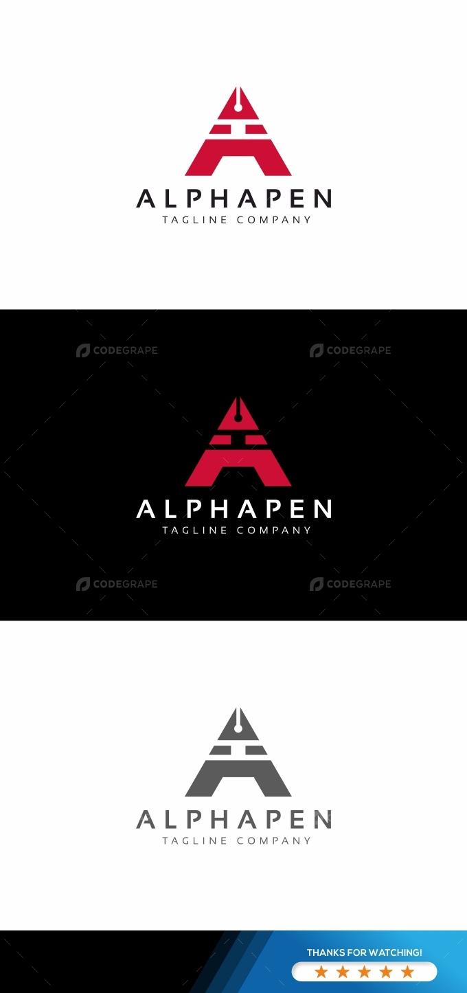 Alphapen A Letter Logo