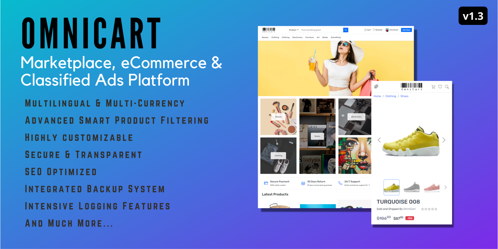 OmniCart - Marketplace, eCommerce & Classified Ads Platform