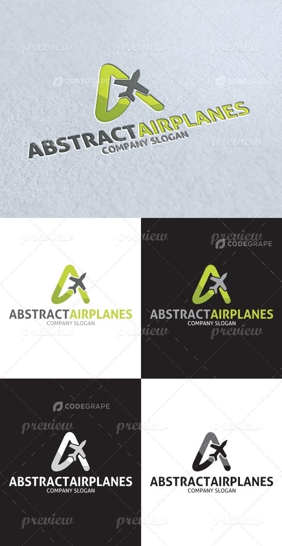 Abstract Air Plane Logo