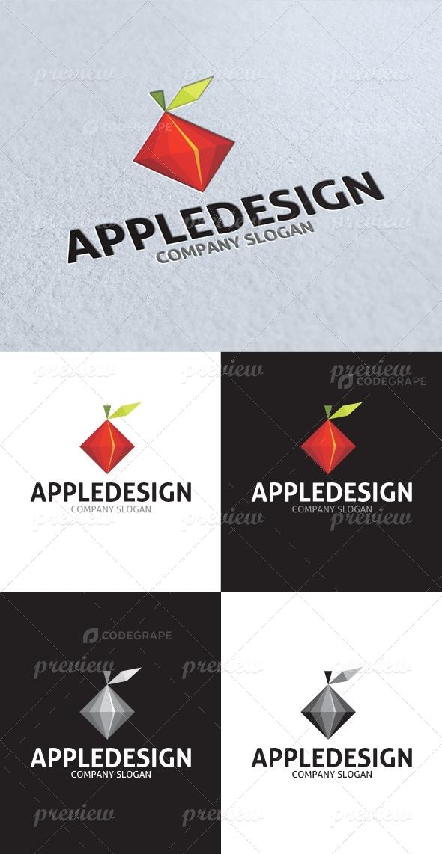 Abstract Apple Design Logo