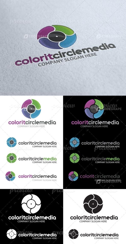 Abstract Circle Colorit Media Logo