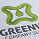 Abstract Eco Green Water Logo