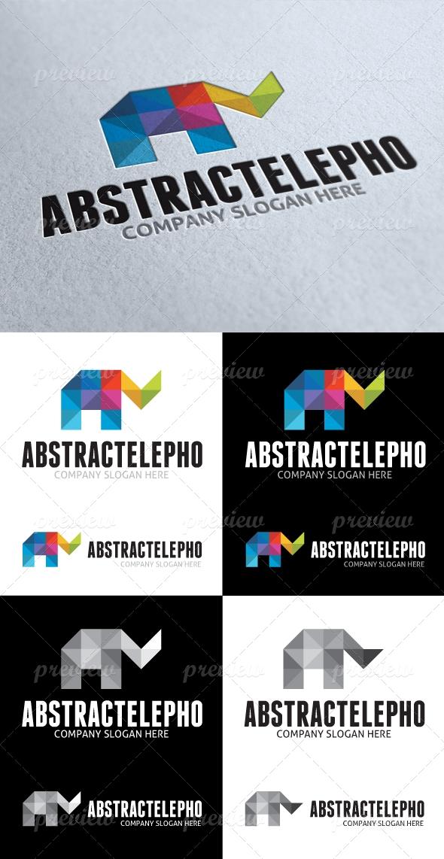 Abstract Elephant Logo