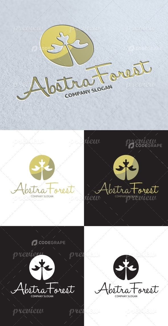 Abstract Forest Logo