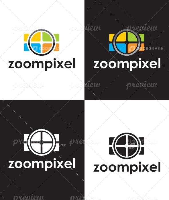 Zoom Pixel Logo
