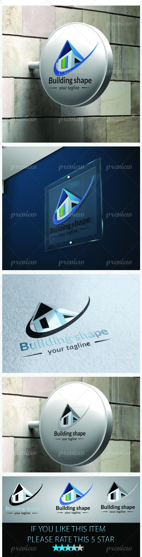 Building shape Logo