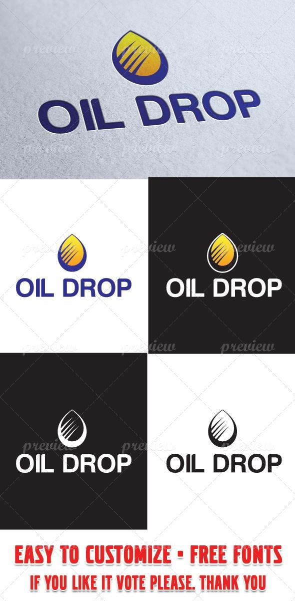Oil Drop Logo Template