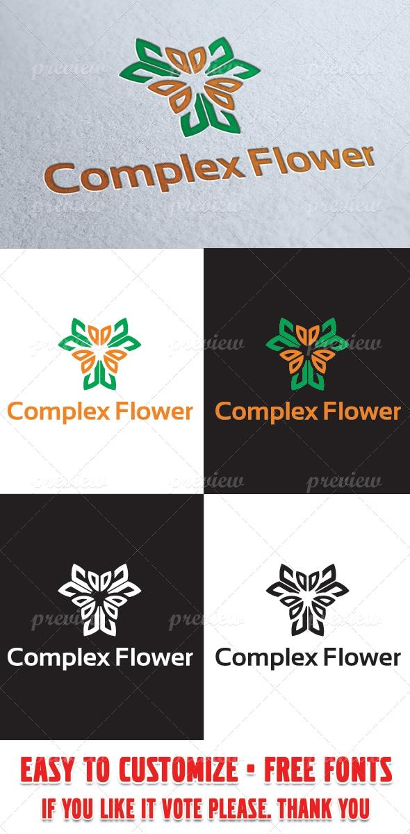 Complex Flower Logo Template