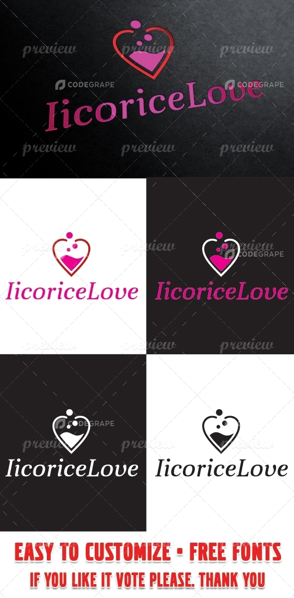 Iicorice Love Logo Template