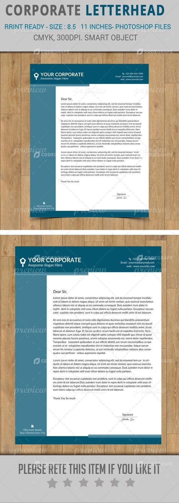 Corporate Letter Head Design