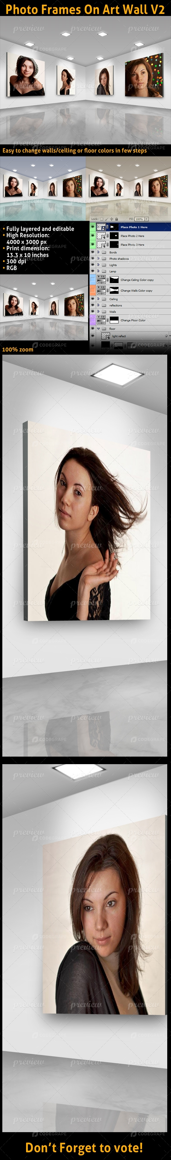 Photo Frames On Art Wall V2