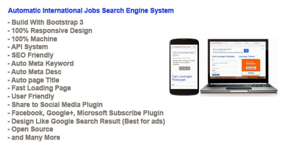 Automatic International Jobs Search Engine System