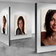 Photo Frames On Art Wall V4
