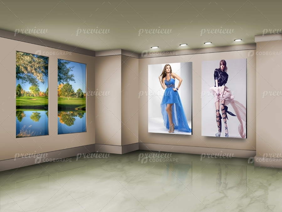 Photo Frames On Art Wall V6
