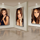 Photo Frames On Art Wall V8