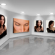 Photo Frames On Art Wall V10