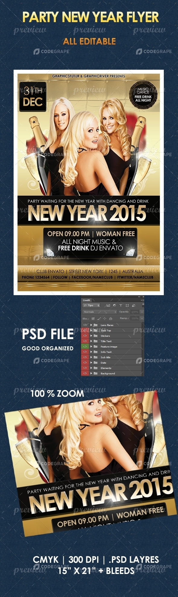 Party New Year Flyer