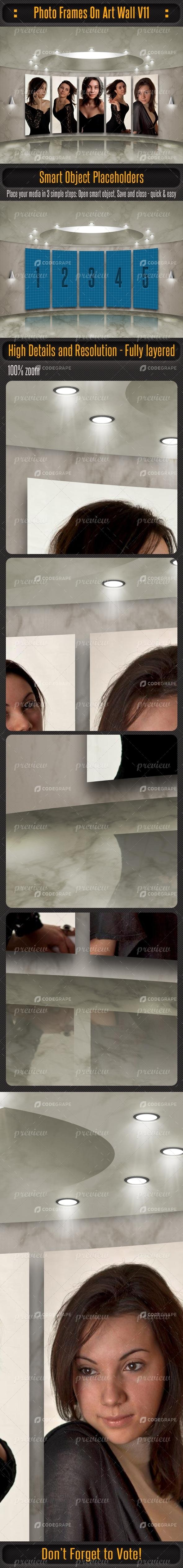 Photo Frames On Art Wall V11