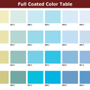 Full Coated Color Table