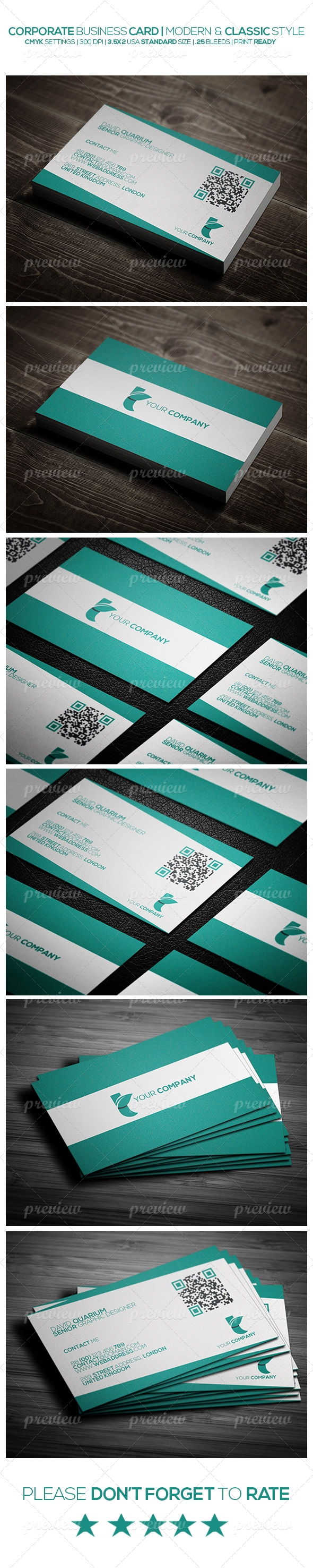 Modern And Classic Style Corporate Business Card