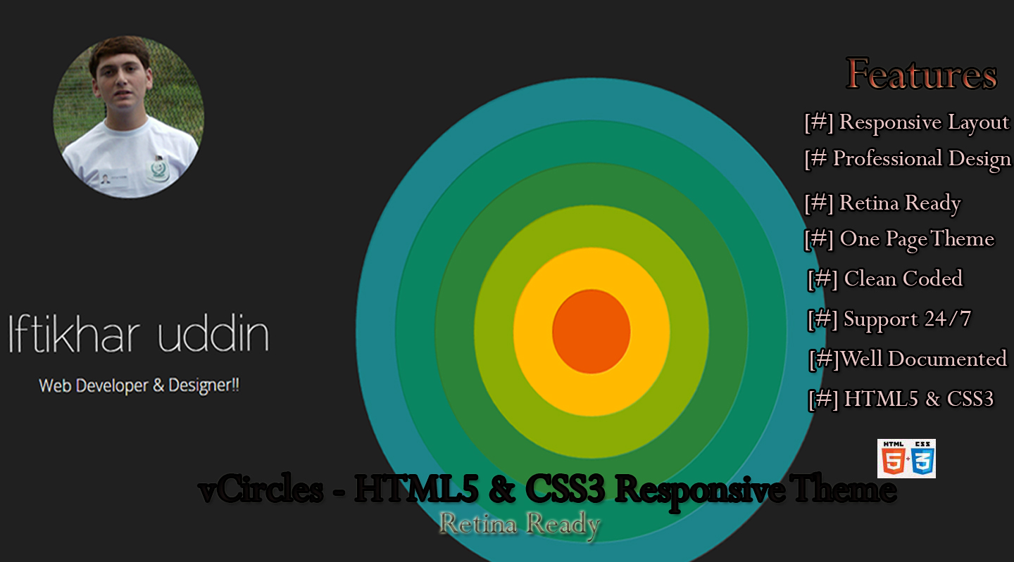 vCircles - HTML5 & CSS3 Responsive Theme
