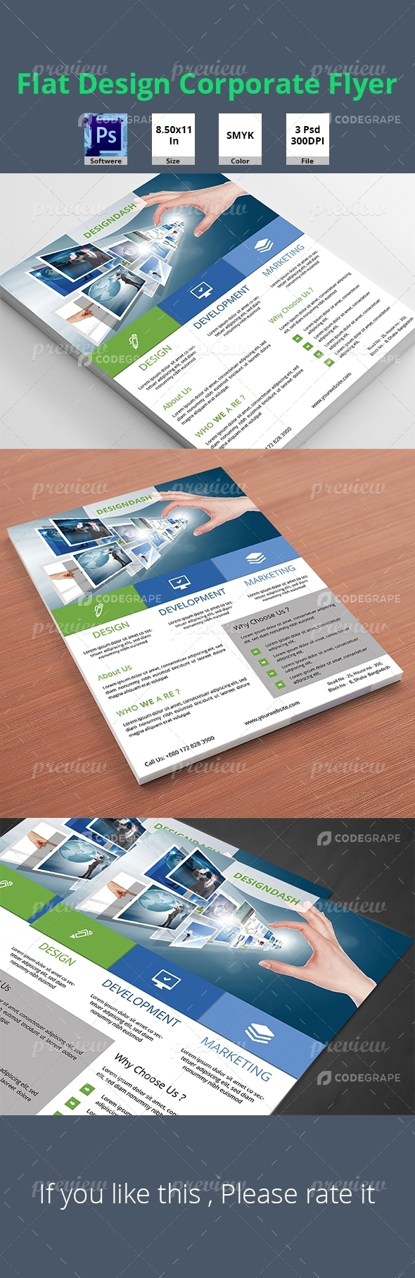 Flat Design Corporate Flyer Vol_2