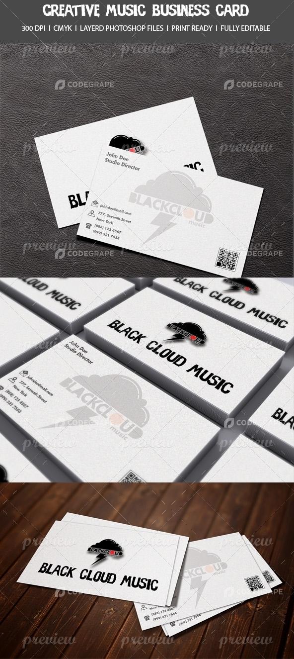 Creative Music Business Card