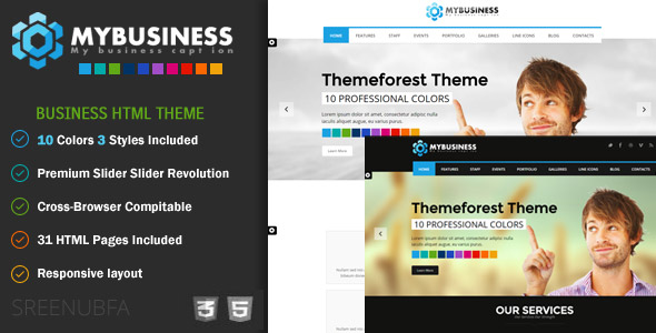 MyBusiness Responsive HTML5 and CSS3 Template