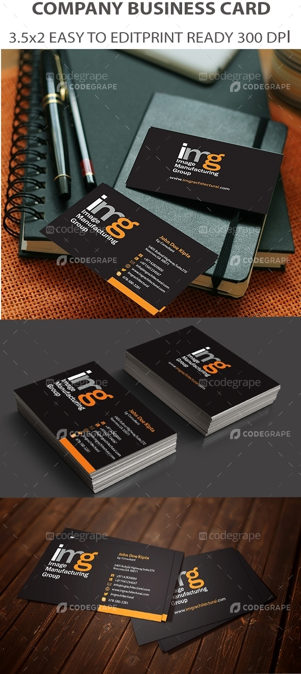 Image Manufacturing Company Business Card