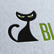 Black Cat Logo Template