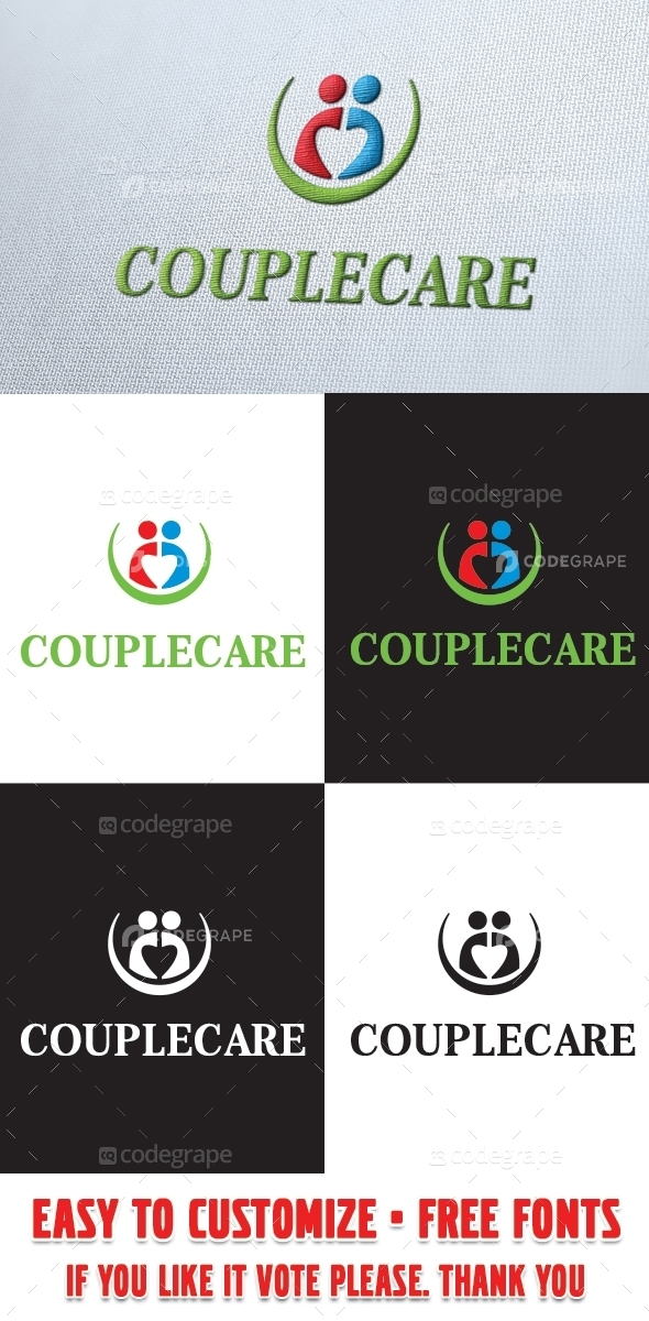 Couplecare Logo Template