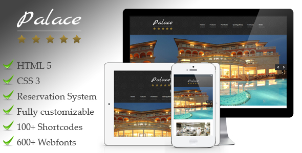 Palace - Responsive WordPress Hotel Theme