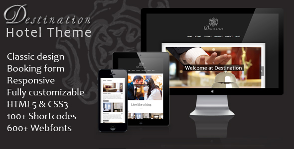 Destination - Responsive WordPress Hotel Theme