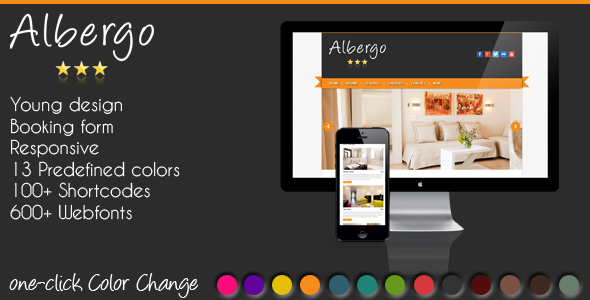 Albergo - Responsive WordPress Hotel Theme