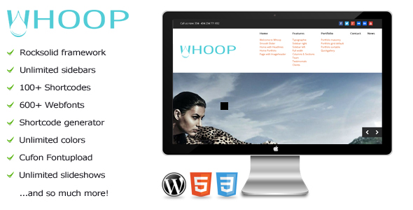 Whoop - Creative WordPress Portfolio Theme