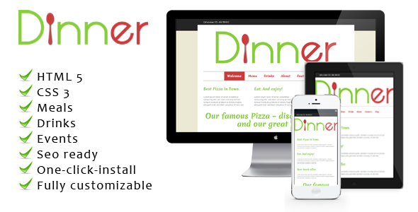 Dinner - WordPress Restaurant Theme