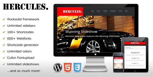 Hercules - WordPress Business Theme