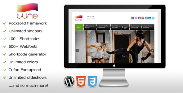 Tune - Responsive WordPress Business Theme